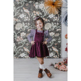 Faux Suede Pinafore