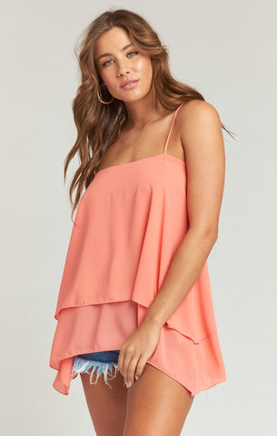 Missy Tank - Coral - Annie James Boutique