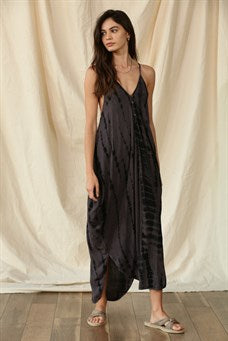 Tie dyed V Neck Cami Maxi Dress