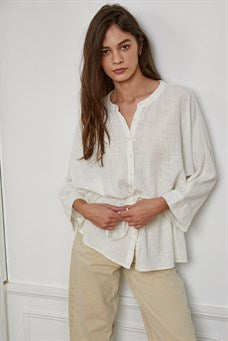 Cotton Gauze Button down