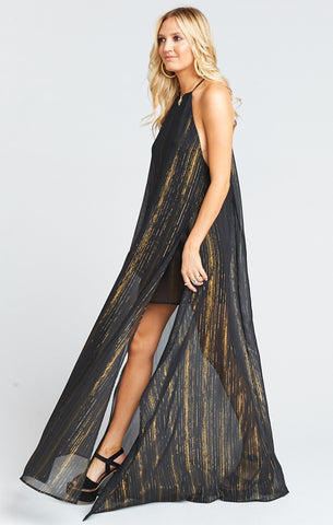 BRONTE MAXI DRESS IN SPARKLE & SHINE - Annie James Boutique