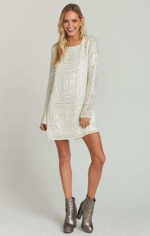 Iggy Dress- Frosty Beaded Sequins - Annie James Boutique