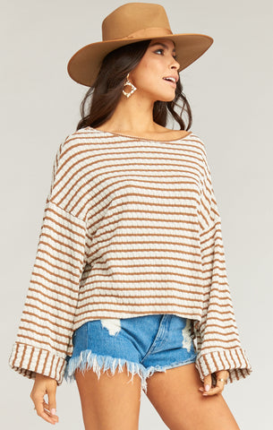 Vega Pullover - Brady Knit Caramel - Annie James Boutique