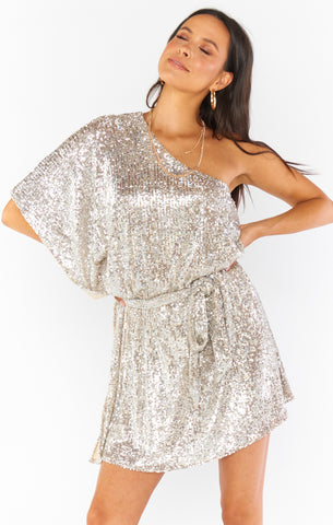 Trish Dress PLATINUM SEQUINS