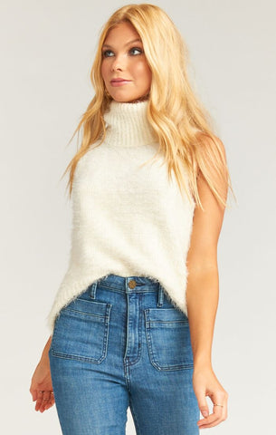Fauna Tank - Fuzzy Cream Knit