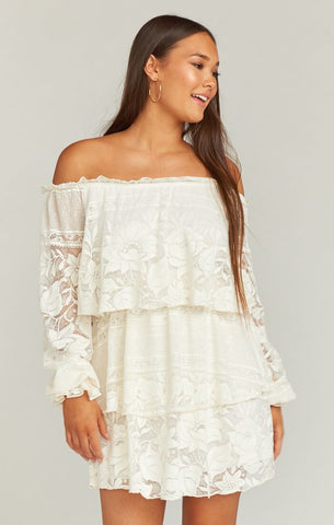 Bess Dress -Moonlight Roses Lace Cream - Annie James Boutique