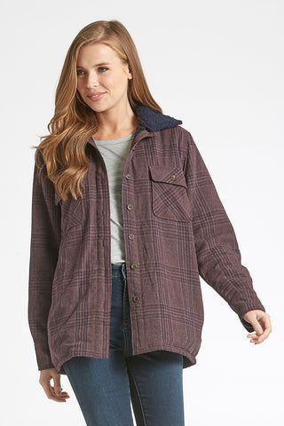 Dear John Leann Jacket - Royal Purple