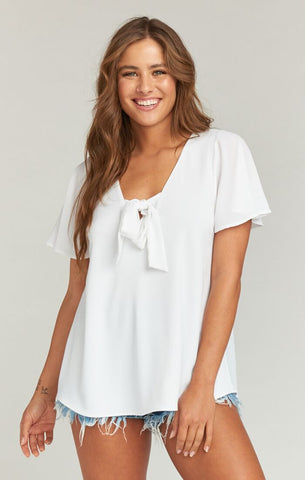 Flutter Top - White