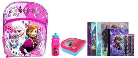 Disney Frozen Pink Backpack Set