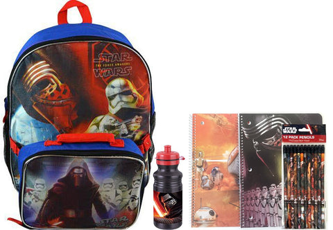 Star Wars Backpack Set- Includes Lunch Bag, notebooks, Pencils, Water Bottle