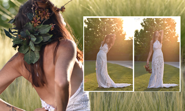 dress the dress! how to style your bohemian wedding gown