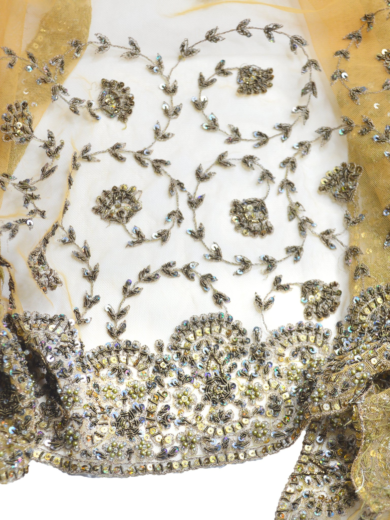 yellow embroidered shawl for autumn weddings
