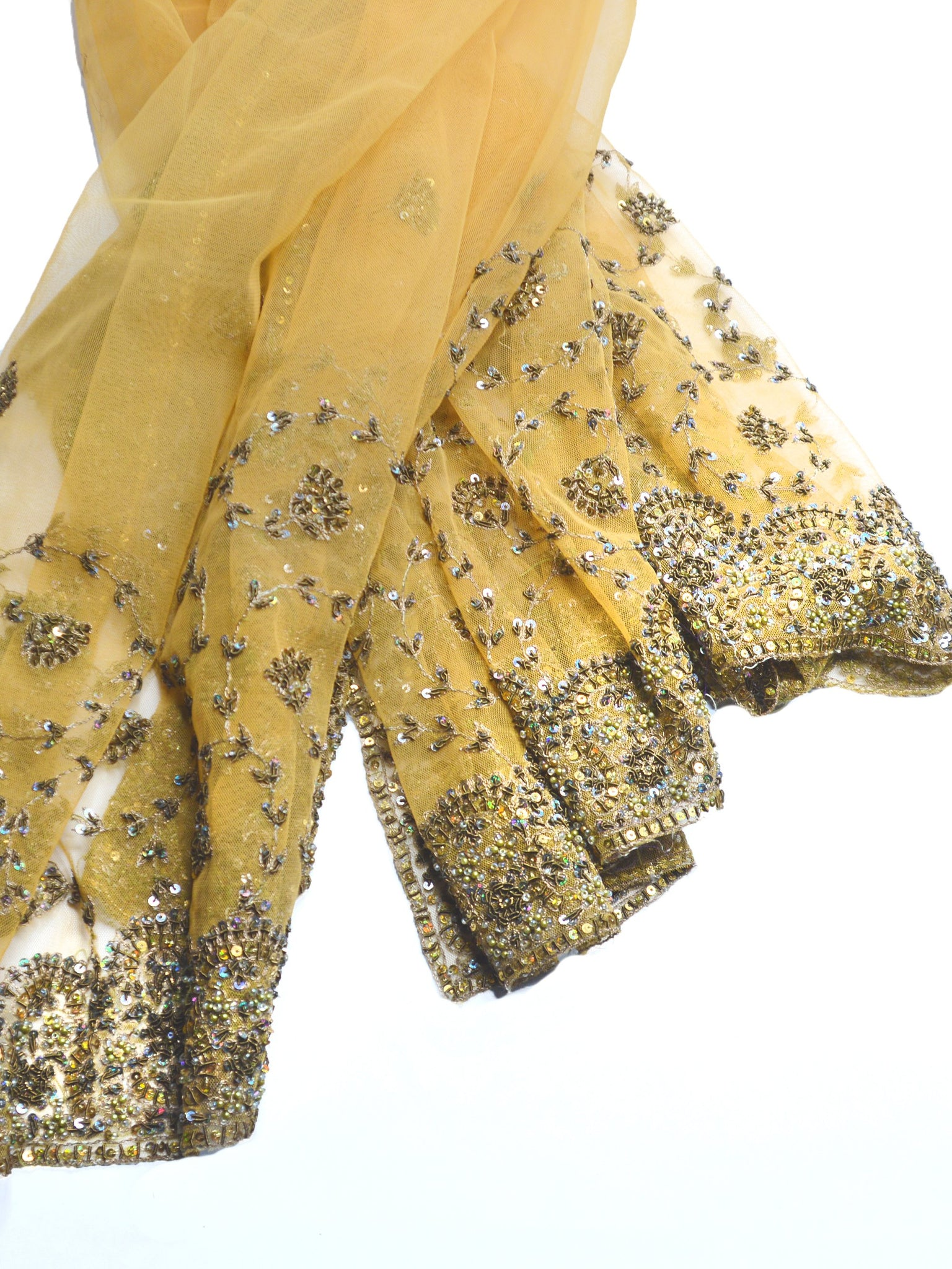 gorgeous gold glam wedding shawl