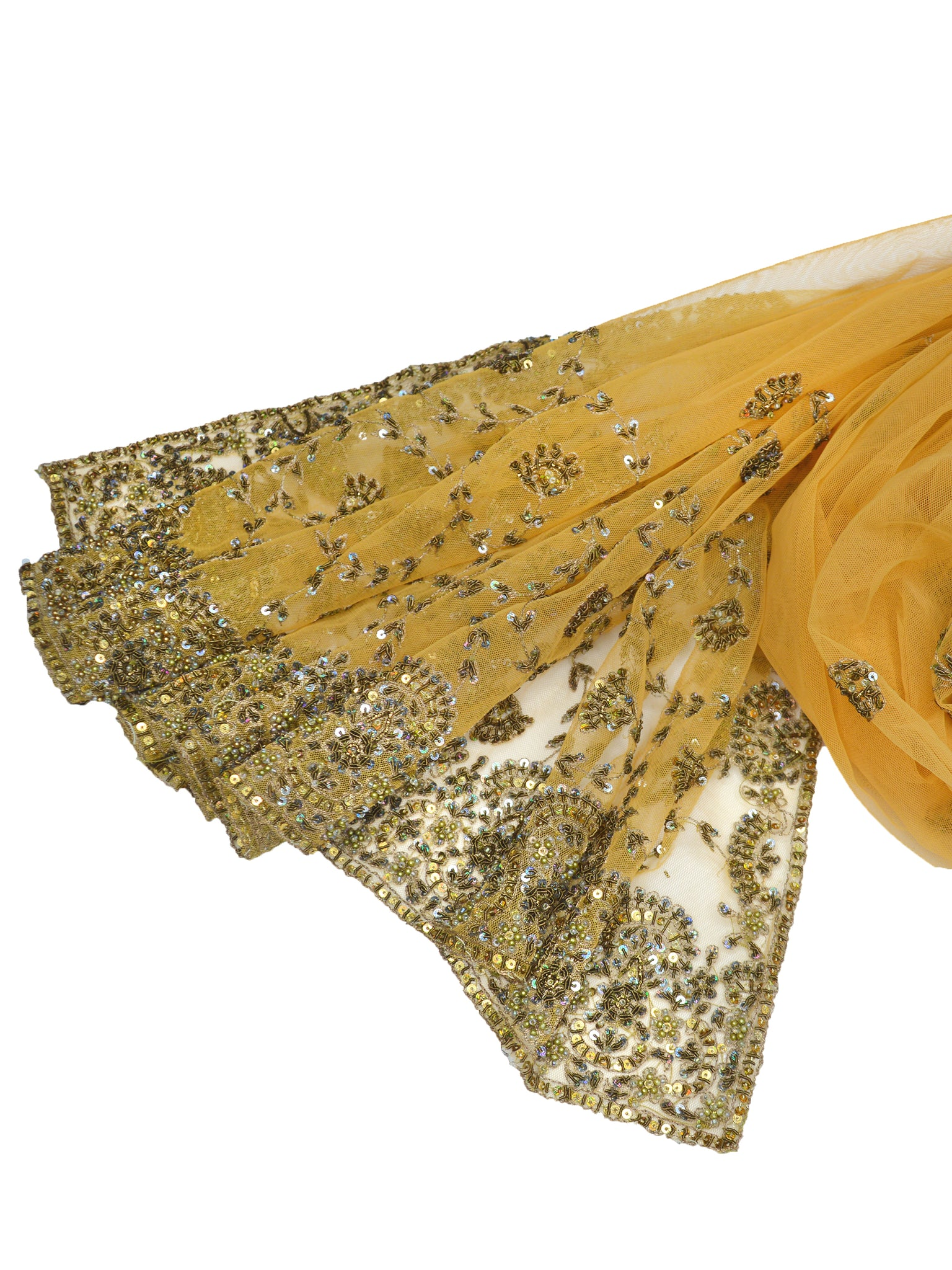 beautiful gold beaded shawl for gold autumn weddings