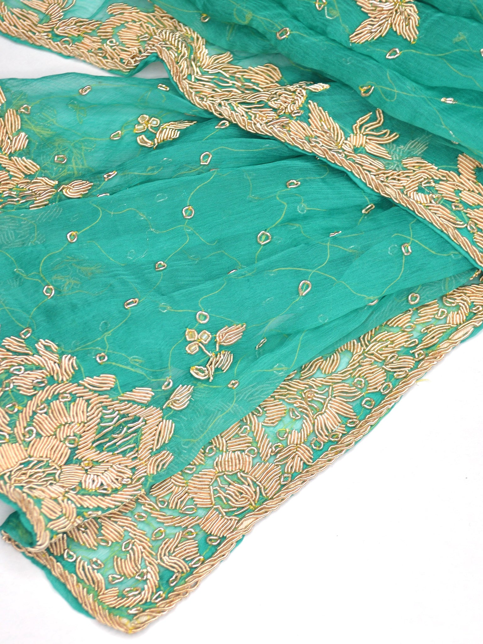 green silk chiffon bridal coverup