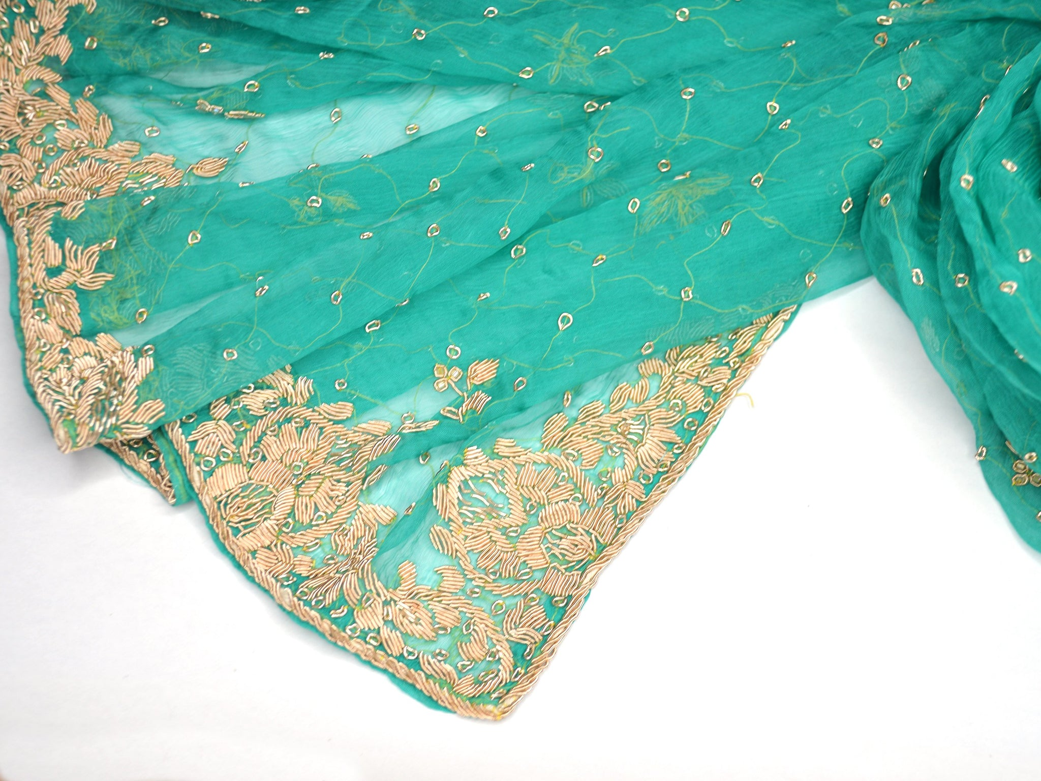 teal weddings green silk chiffon shawl