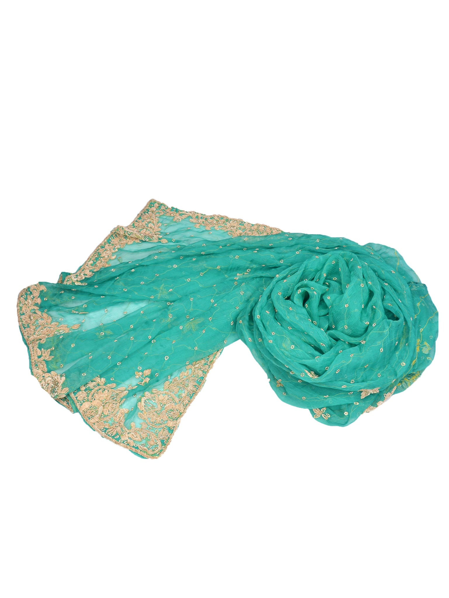 teal silk chiffon wedding shawl