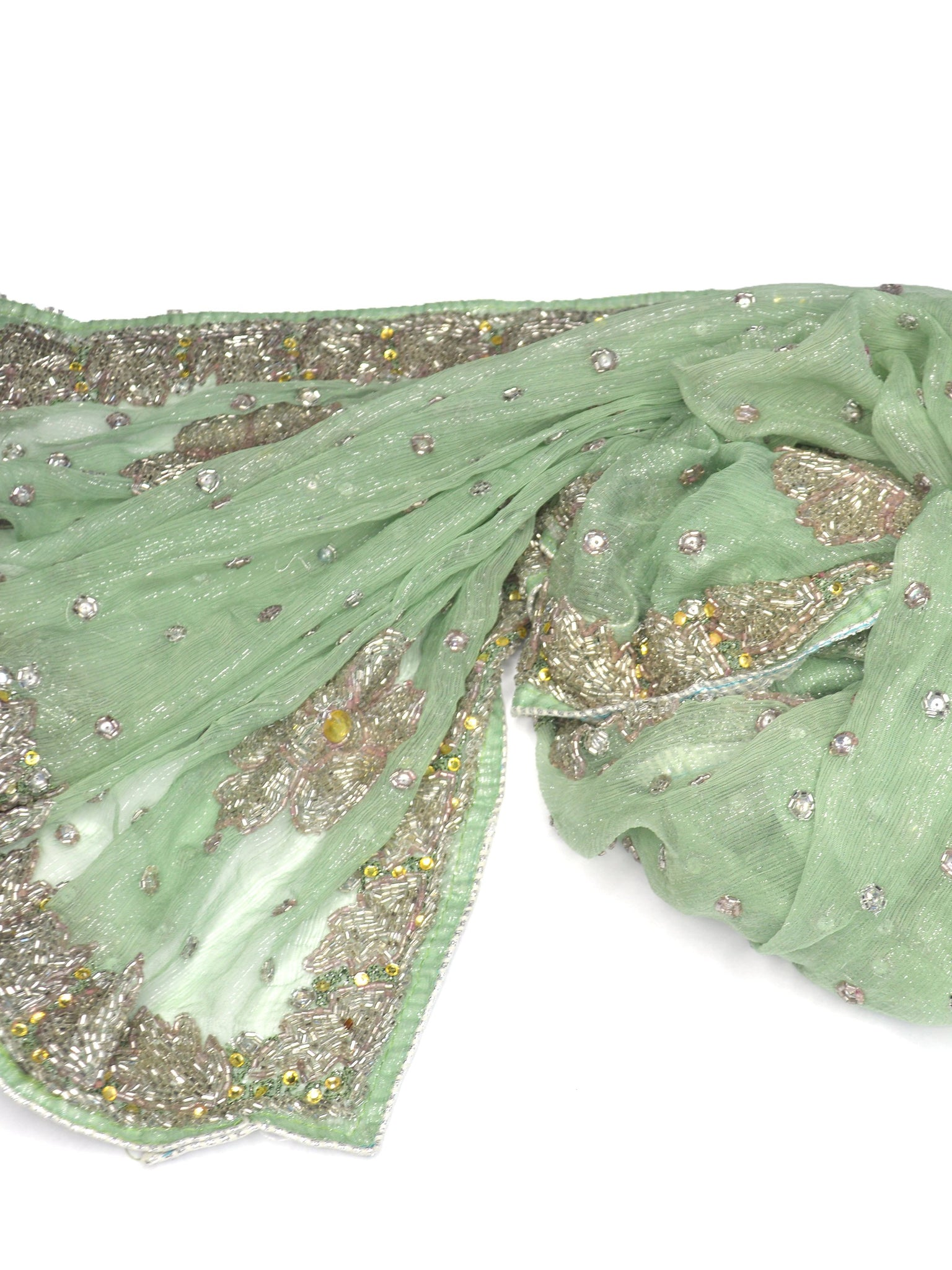 green fairytale wedding shawl