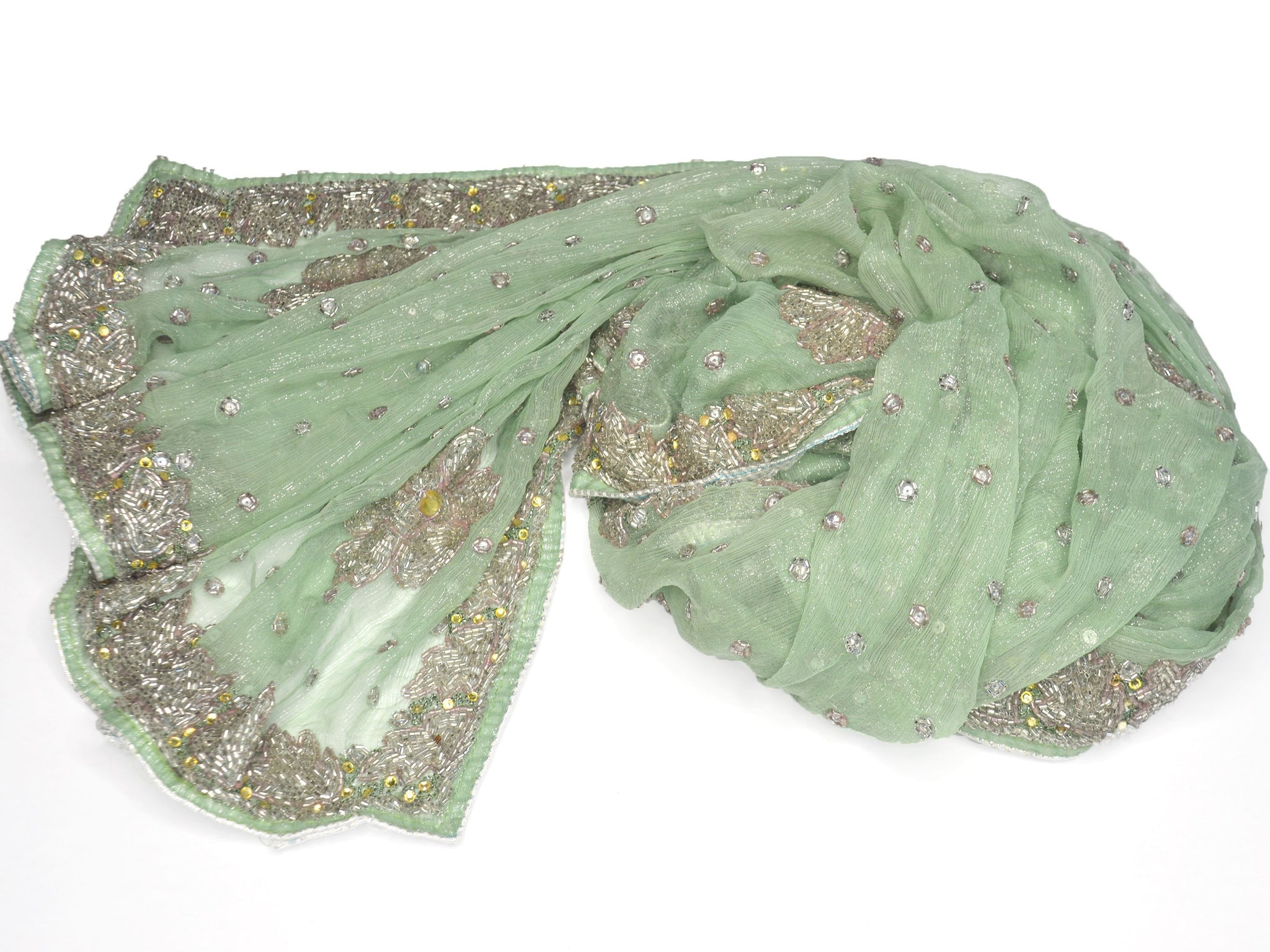 aqua green sheer net formal wrap
