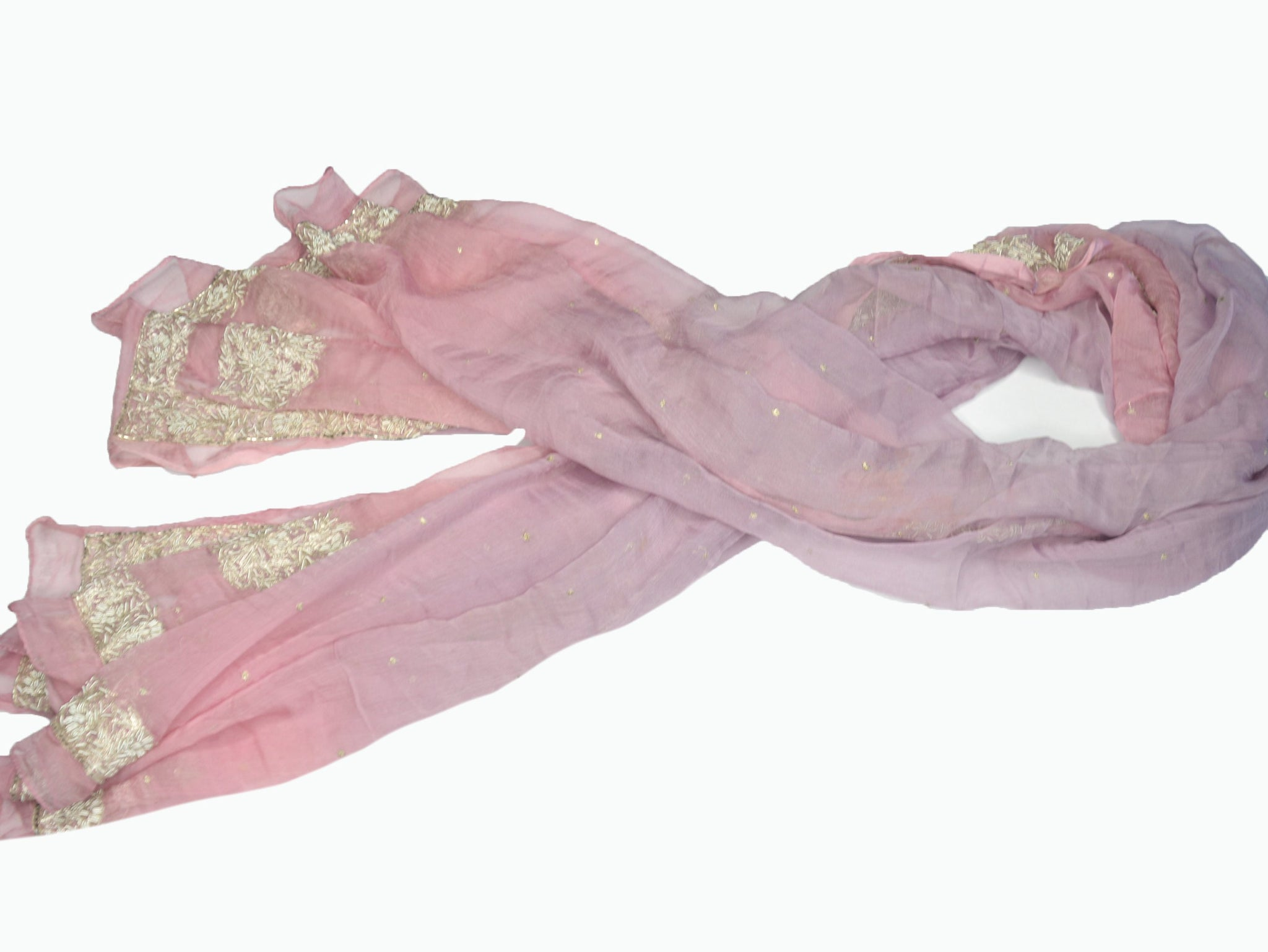 pink purple bridal embroidered silk shawl