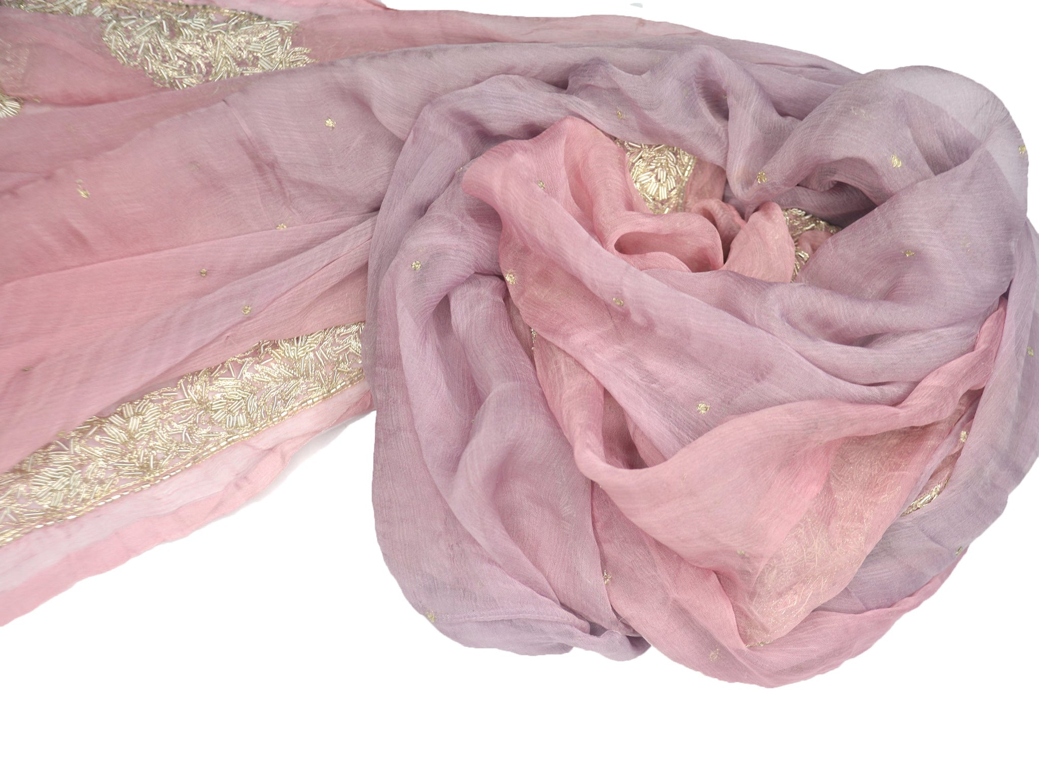 soft pink and purple wedding shawl or evening wrap
