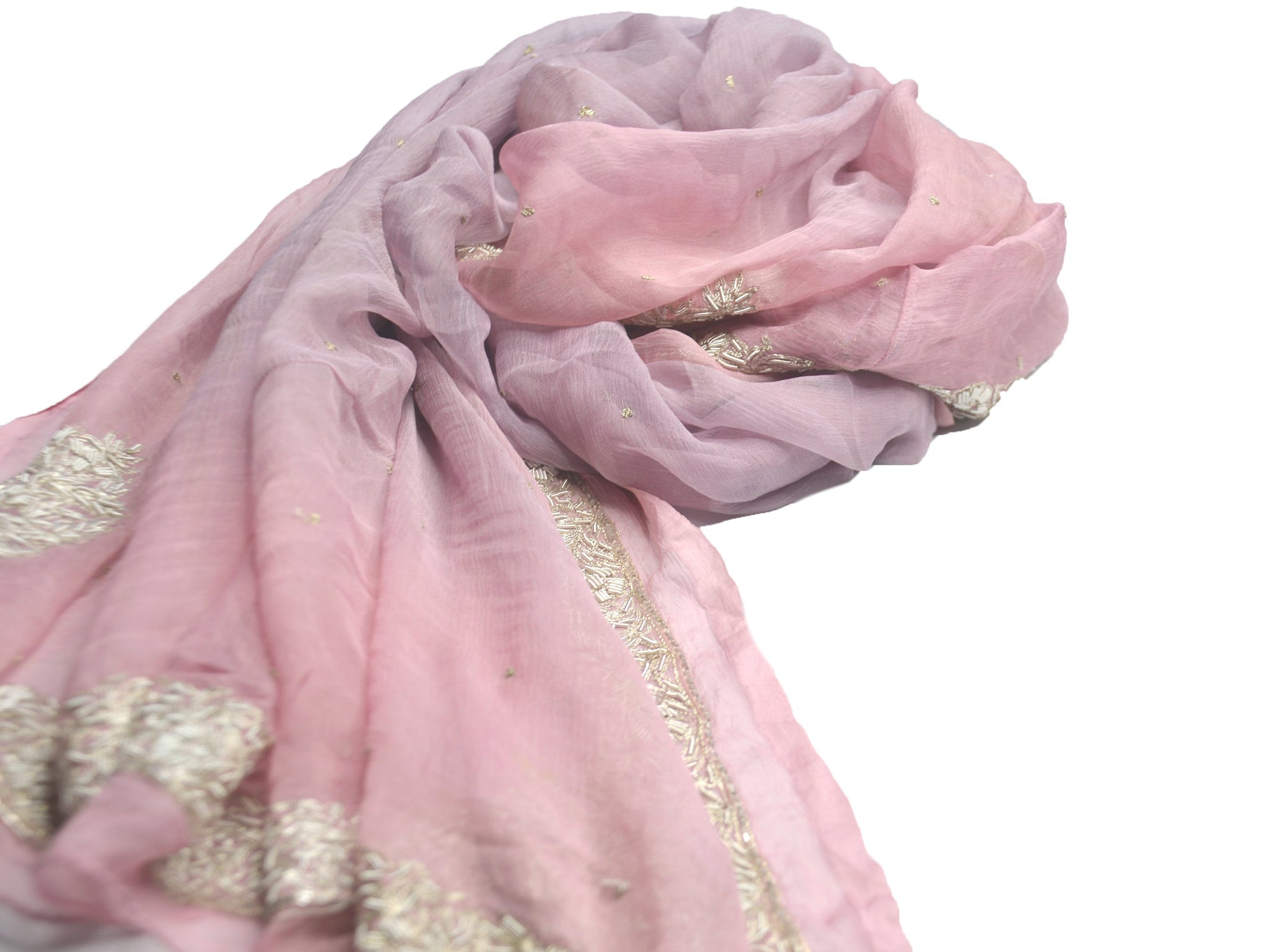 light purple and pink silk wedding shawl