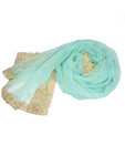 aqua green fairytale princess wedding shawl