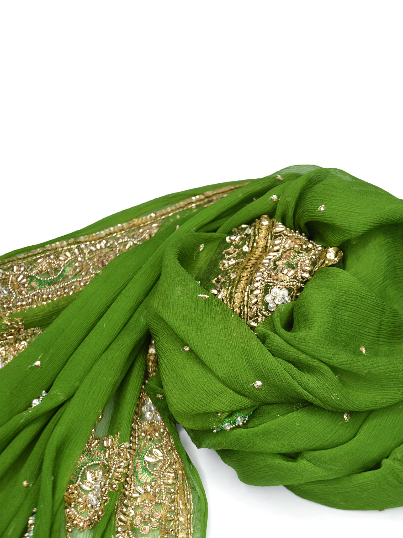 green indian wedding shawl