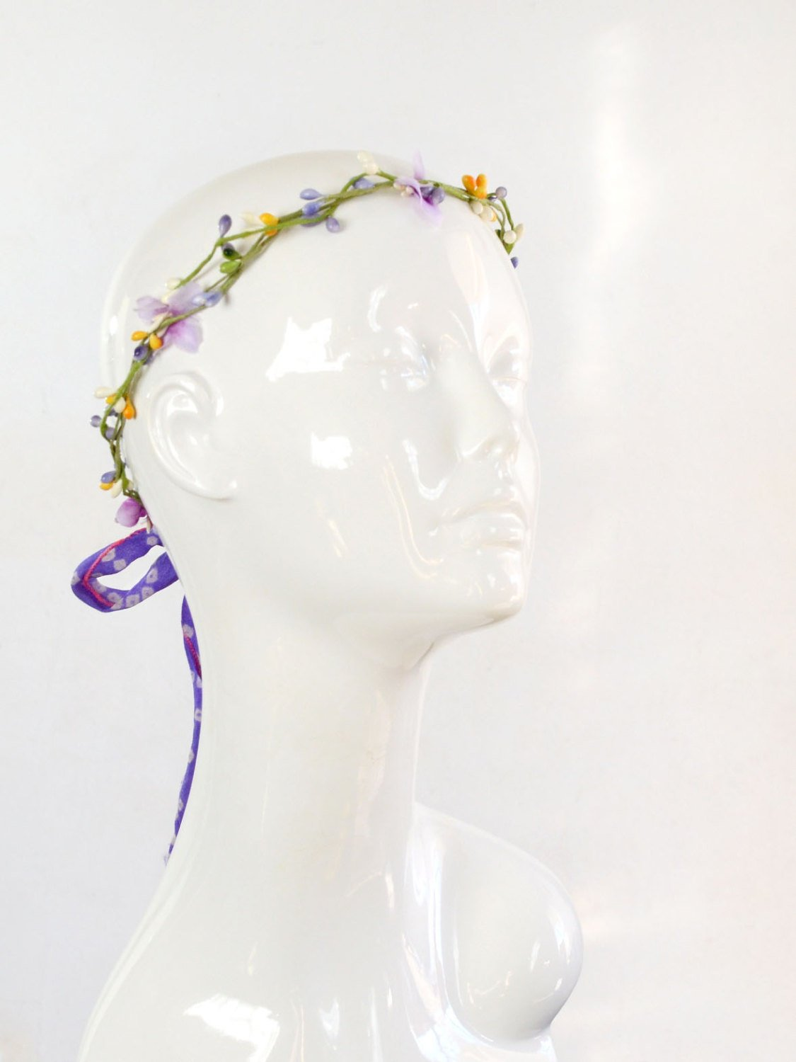 small floral wedding crown