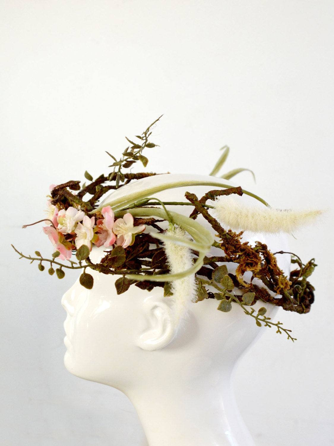 woodland wedding bridal head piece