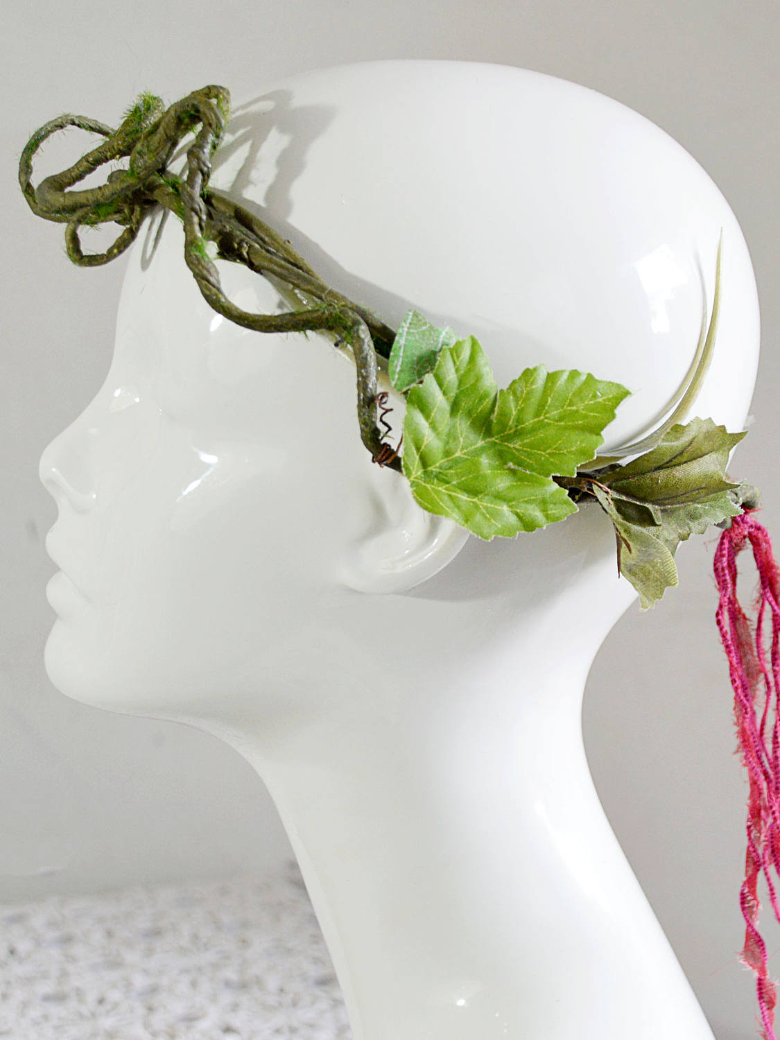 small wedding head piece flower crown