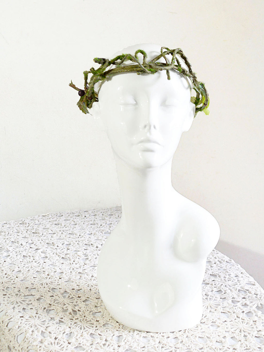 leaves and branches flower crown.