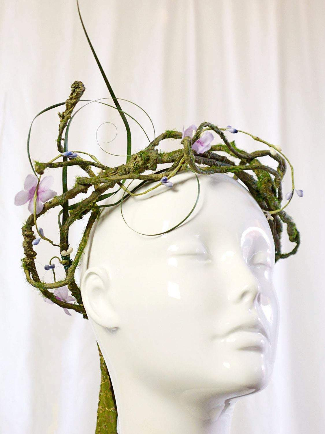branches, vines, and leaves wedding crown.