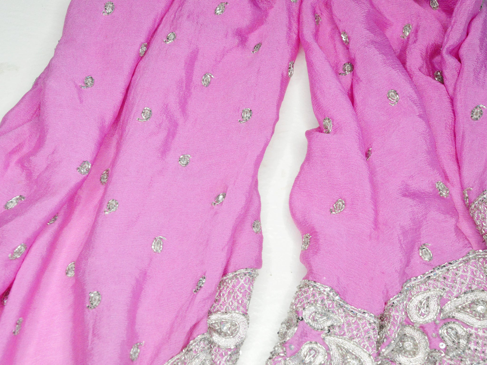 pure silk paisley beaded indian wedding shawl
