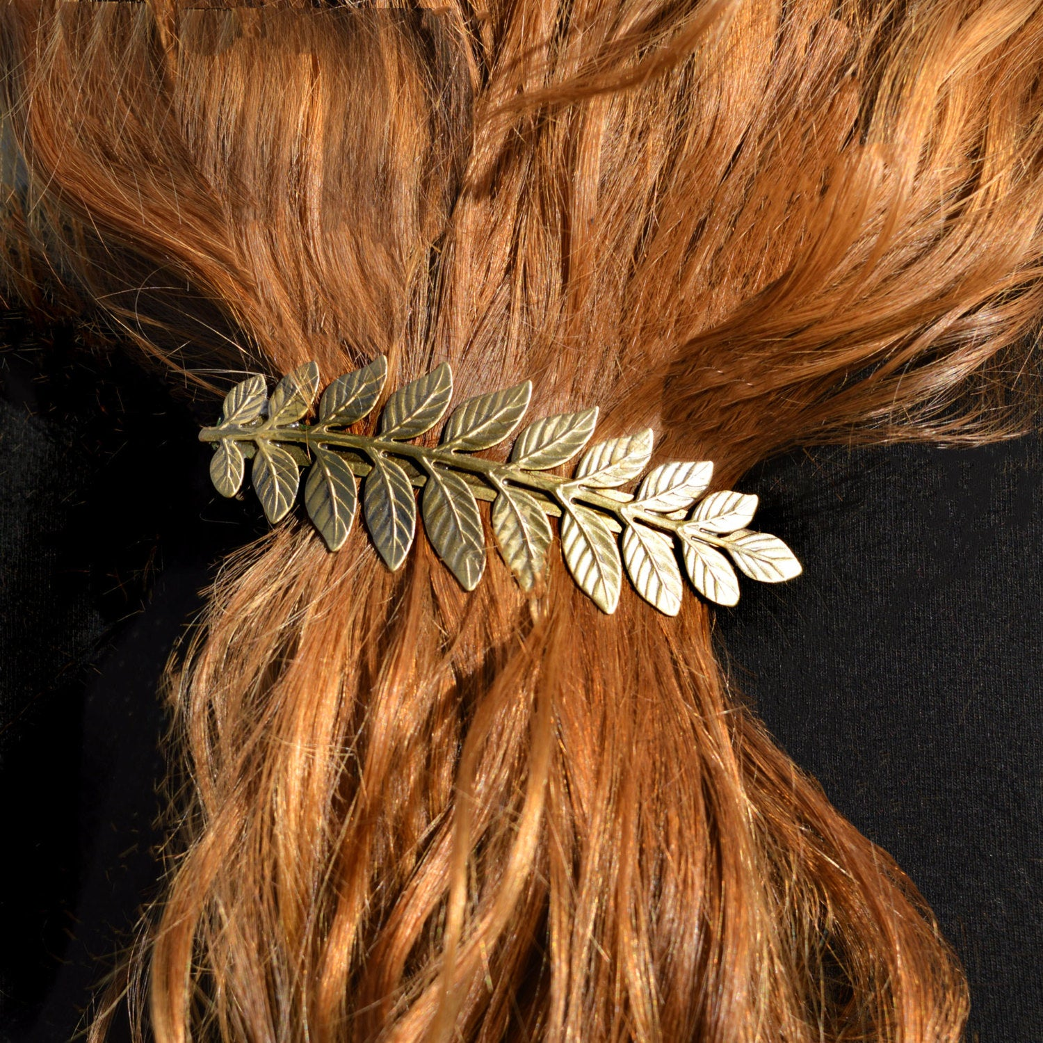 goldtone goddess barrette for bride