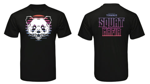 "Men's Squat Mafia ""Panda Sunrise"" T-shirt"
