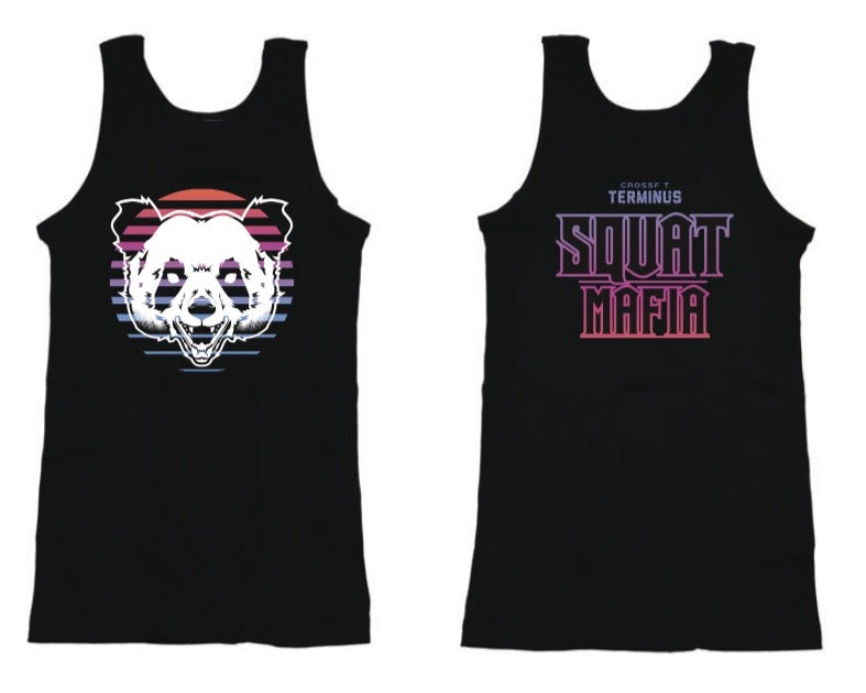 "Women's Squat Mafia ""Panda Sunrise"" Tank"