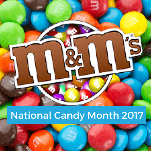 M&M's Chocolate Candies National Candy Month CandyDistrict.com