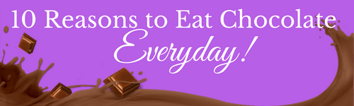 10 Reasons to Eat Chocolate Everyday by Candy Queen-Sweet Talk Blog-Candy District