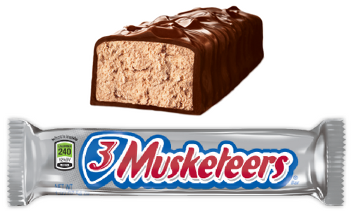 3 Musketeers Bar Old Fashioned Candy-Top 10 Candies from the 1930's