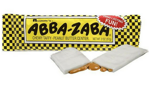 Abba Zaba Bars-Top 10 Candies from the 1920's