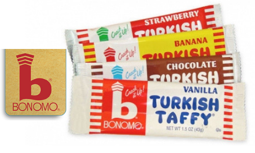 Bonomo Turkish Taffy-Top 10 Candies from the 1950's