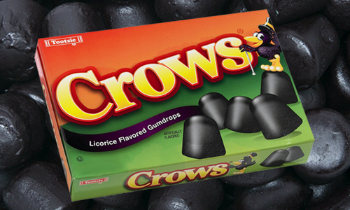 Crows Licorice Flavoured Gum Drops Candy