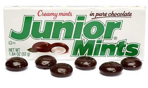 Junior Mints-Top 10 Candies from the 1940's