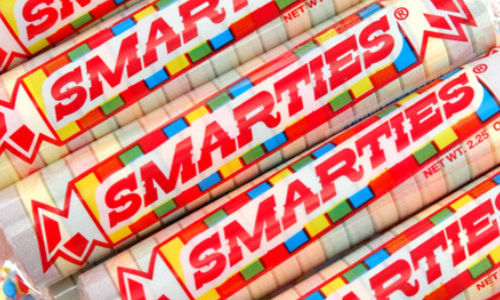 Smarties Candy-Rockets-Top 10 Candies from the 1940's