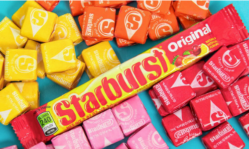 Starburst Original Fruit Chews-Top 10 Retro Candies from the 1960's