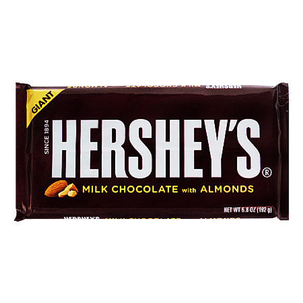 hershey's milk chocolate with almonds giant bar