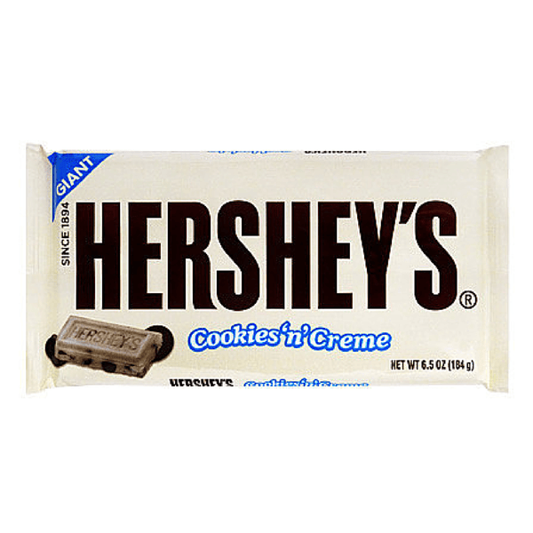 hershey cookies n creme giant chocolate bar