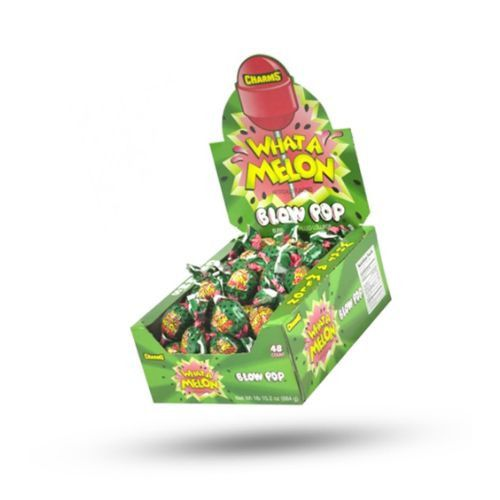 Charms What A Melon Blow Pop Lollipops-Suckers-Retro Candy