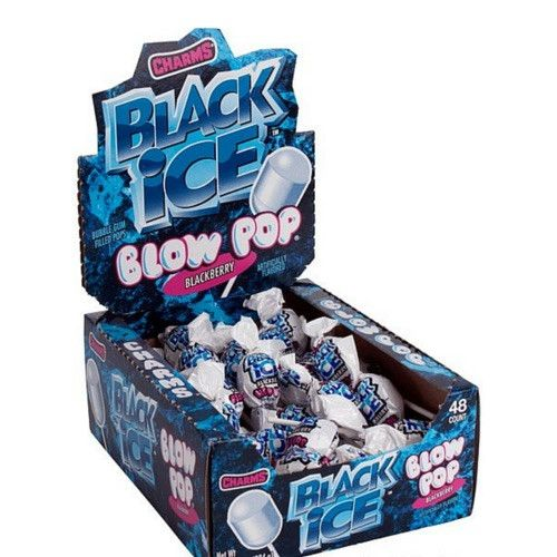 Charms Black Ice Blow Pop Lollipops with Bubble Gum Center-Suckers-Candy Canada